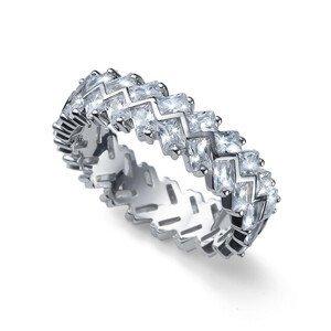 Oliver Weber Originální stříbrný prsten s krystaly Legend 63260 57 mm