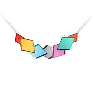 Preciosa Barevný ocelový náhrdelník Fragmentum 7374 70