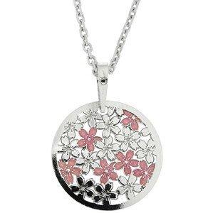 Praqia Stříbrný náhrdelník Cherry Mood KO5044_MO040_45_RH  (řetízek, přívěsek)