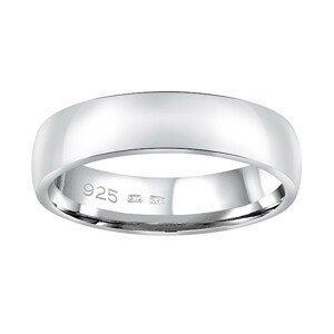 Silvego Snubní stříbrný prsten Poesia pro muže i ženy QRG4104M - SLEVA 51 mm