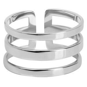 Troli trojitý prsten z oceli 75 silver TO1869