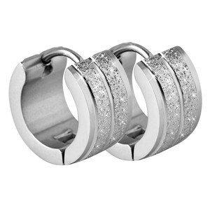 Troli Třpytivé ocelové náušnice kroužky TO2296