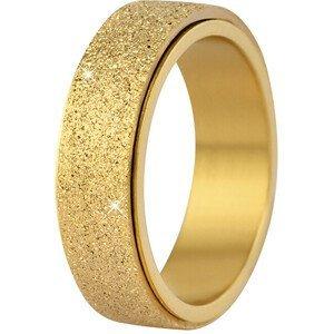 Troli Ocelový třpytivý prsten ve zlaté barvě 59 mm