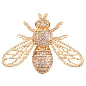 Troli Hravá pozlacená brož ve tvaru včelky KS-222
