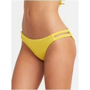 RVCA SOLID FULL TAB SIDE MUSTARD dvoudílné plavky - žlutá