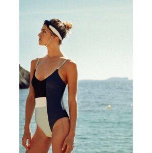 Modré dámské jednodílné plavky BARTS