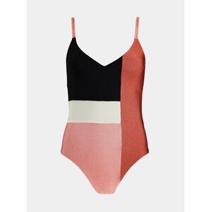 Černo-růžové dámské jednodílné plavky BARTS