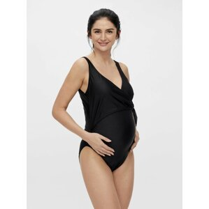 Černé těhotenské jednodílné plavky Mama.licious Lamely