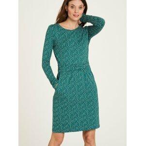 Zelené květované šaty s kapsami Tranquillo