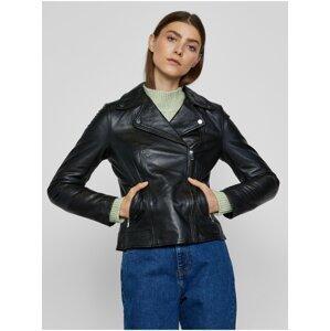 Černá kožená bunda METROOPOLIS Albi