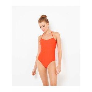 Oranžové jednodílné plavky CAMAIEU