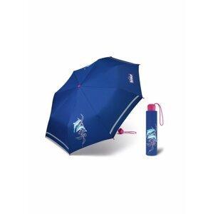 Scout FLORIDA dětský skládací deštník s delfínem - Modrá