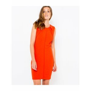 Červené pouzdrové šaty CAMAIEU