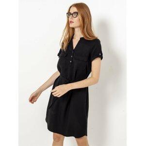 Černé košilové šaty CAMAIEU