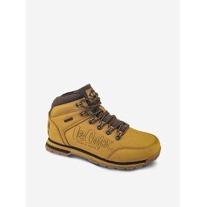 Hořčicové kožené pánské boty Lee Cooper