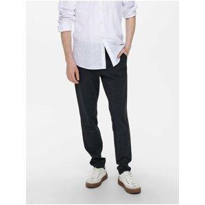 Tmavě modré pánské chino kalhoty ONLY & SONS Mark