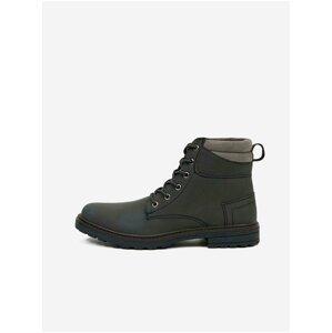 Tmavě šedé kotníkové boty Blend