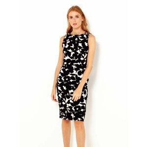 Bílo-černé vzorované pouzdrové šaty CAMAIEU