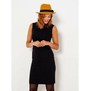 Černé pouzdrové šaty CAMAIEU