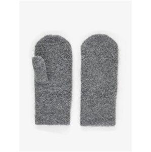 Šedé rukavice Pieces Berta