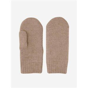 Hnědé rukavice Pieces Berta