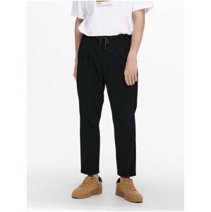 Černé chino zkrácené kalhoty ONLY & SONS Dew