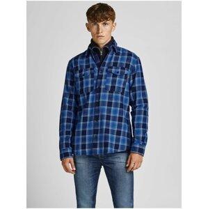 Modrá kostkovaná košile Jack & Jones Bluwoodland