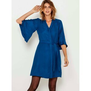 Modré šaty s kimonovými rukávy CAMAIEU