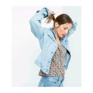Světle modrá džínová bunda CAMAIEU