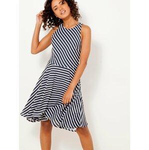 Modro-bílé pruhované šaty CAMAIEU