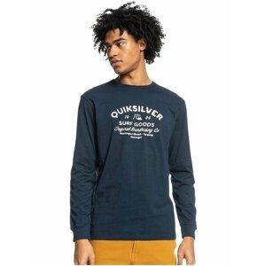 Tmavě modré pánské tričko s potiskem Quiksilver