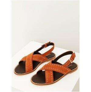Hnědé sandále CAMAIEU