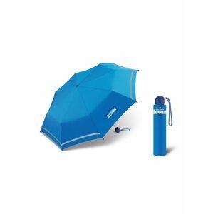 Scout ROYAL BLUE dětský skládací deštník s reflexním proužkem - Modrá