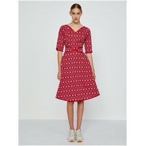 Červené vzorované šaty Blutsgeschwister Thanksgiving Love