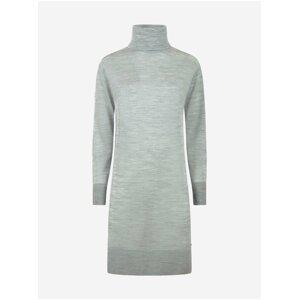 Světle šedé dámské svetrové šaty Pepe Jeans Edna