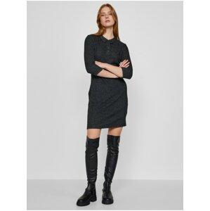 Tmavě šedé dámské šaty TOP SECRET