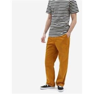 Oranžové pánské straight fit kalhoty VANS Authentic