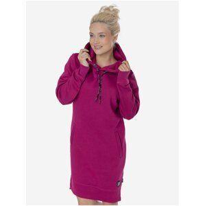 Tmavě růžové dámské mikinové šaty SAM 73