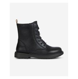 Černé dětské kotníkové boty Geox Eclair