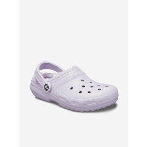 Světle fialové dámské pantofle Crocs