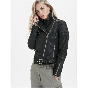 Černá dámská kožená bunda KARA