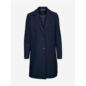 Tmavě modrý kabát VERO MODA Paula