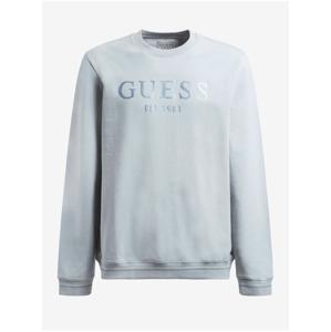 Světle modrá pánská mikina Guess