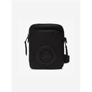 Černá pánská malá crossbody taška Versace Jeans Couture V-emblem