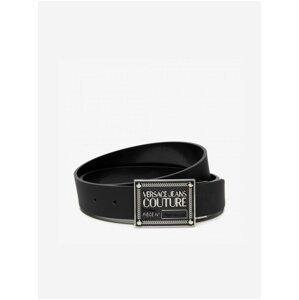 Černý pánský kožený pásek Versace Jeans Couture Cintura