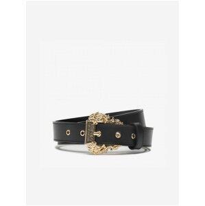 Černý dámský pásek s ozdobnou sponou Versace Jeans Couture Cintura