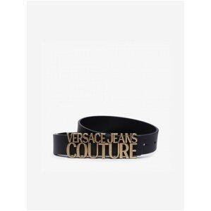 Černý dámský kožený pásek Versace Jeans Couture Cintura