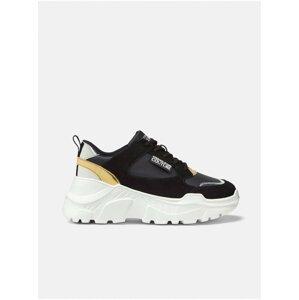 Bílo-černé dámské kožené tenisky Versace Jeans Couture Fondo Speedtrack