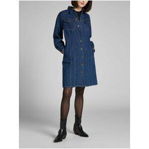 Modré dámské košilové džínové šaty Lee Volume