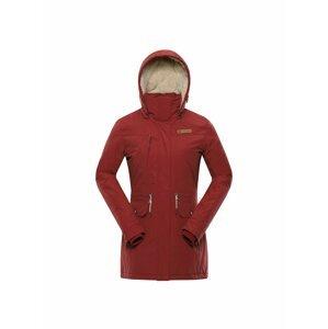 Dámský kabát s dwr úpravou ALPINE PRO GYNETHA červená